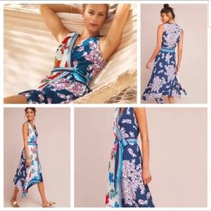 Anthropologie Maeve Botanica Floral Wrap Dress